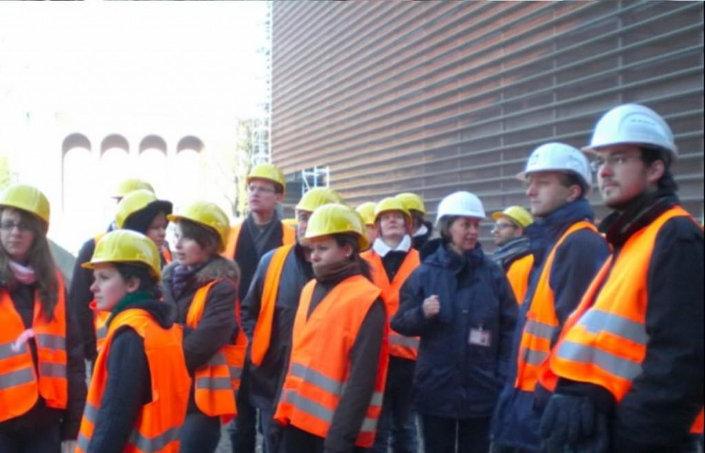 Baustellenführung auf der Großbaustelle der RTL und Sparkassen Zentrale in Köln